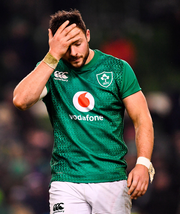 Robbie Henshaw will be at the centre of selection debates this week. Photo by Ramsey Cardy/Sportsfile