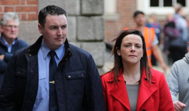 Case halted: Keith Harrison and Marisa Simms at the Disclosures Tribunal. Photo: Collins