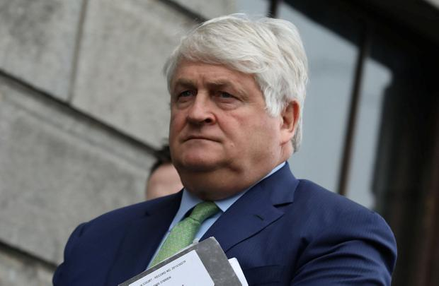 Businessman Denis O'Brien at the Four Courts. Photo: Collins