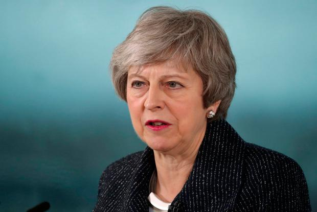 Building bridges: UK Prime Minister Theresa May was keen to point out that she had not performed a 'U-turn' on the backstop on her trip to Belfast. Photo: AFP/Getty Images