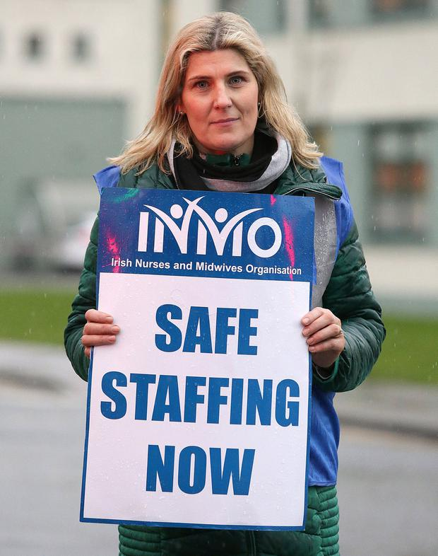 Resolve: Nurse Siobhán Keegan outside St Luke's General Hospital in Kilkenny. Photo: Damien Eagers