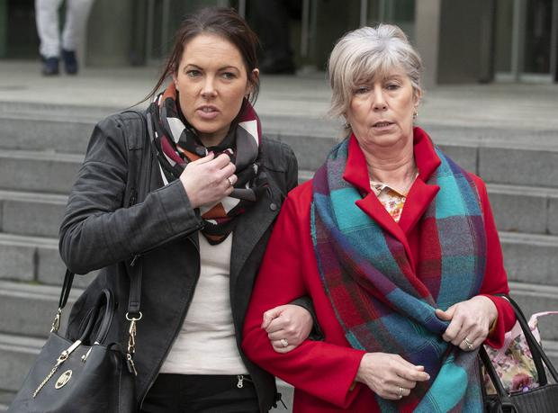 Bobby Ryan's daughter Michelle and former wife Mary. Photo: Collins Courts