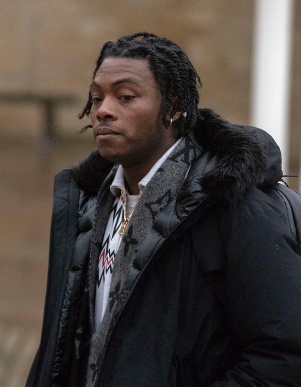 Ceon Broughton, 29, arrives at Winchester Crown Court where he is charged in connection with the death of Louella Fletcher-Michie. Steve Parsons/PA Wire