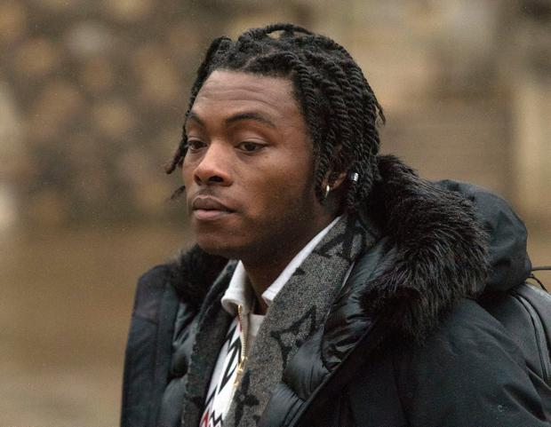 Ceon Broughton, 29, arrives at Winchester Crown Court where he is charged in connection with the death of Louella Fletcher-Michie Steve Parsons/PA Wire