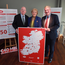Minister for Justice, Charlie Flanagan, Minister for Business Enterprise and Innovation, Heather Humphreys and Supermac's MD, Pat McDonagh at the announcement in the Killeshin Hotel in Portlaoise today of the 300 jobs created by Supermac's and Só Hotels