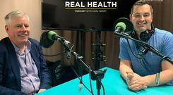 Personal finance expert Charlie Weston, left, joins Karl Henry on the Real Health Podcast