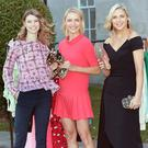 On trend: Models Joanne Northey, Teo Sutra and Sarah McGovern at the Fashion Relief launch. Photo: Brian McEvoy