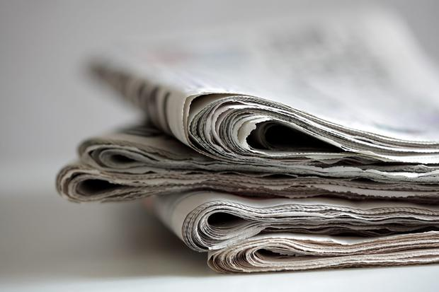Almost two-thirds of people surveyed said they trusted traditional media including newspapers and broadcasting as their source of news. Stock picture