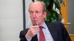 Transport Minister Shane Ross was quizzed on preparations. Photo: Collins