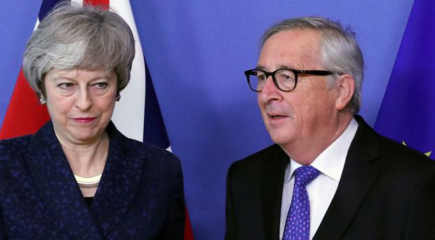 European Commission President Jean-Claude Juncker meets with British Prime Minister Theresa May in Brussels, Belgium February 7, 2019. REUTERS/Yves Herman