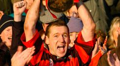 O'Sullivan: Lifting the Cup after Ballygunner's previous Munster club success in 2001. Photo: Sportsfile
