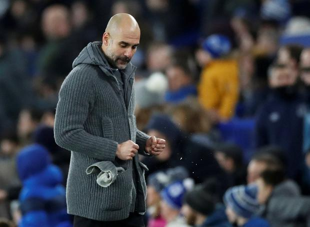 'The past week felt like it had the potential to be a defining period for Guardiola's ambition of all four trophies in a campaign.' Photo: Reuters/Carl Recine