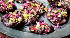 Clodagh McKenna's pistachio and rosewater florentines