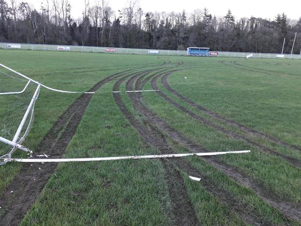 Some of the damage done at the grounds in Grennan. Credit: Thomastown GAA