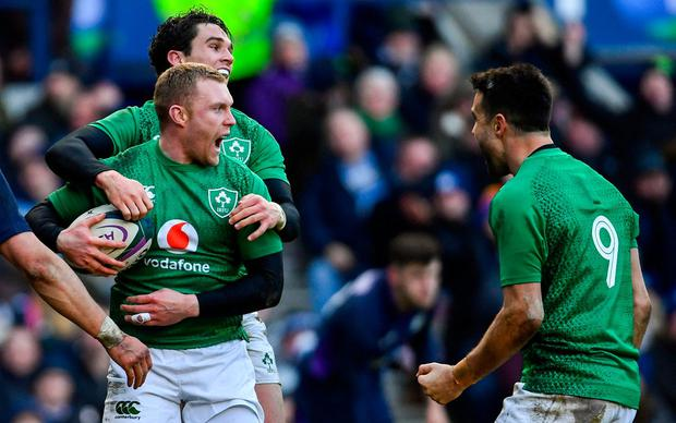 Ireland grind down Scotland to win at Murrayfield