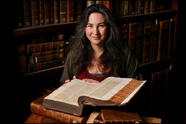 ANCIENT DAYS: Dr Elizabeth Boyle, head of the Department of Early Irish at Maynooth University. Photo: Steve Humphreys
