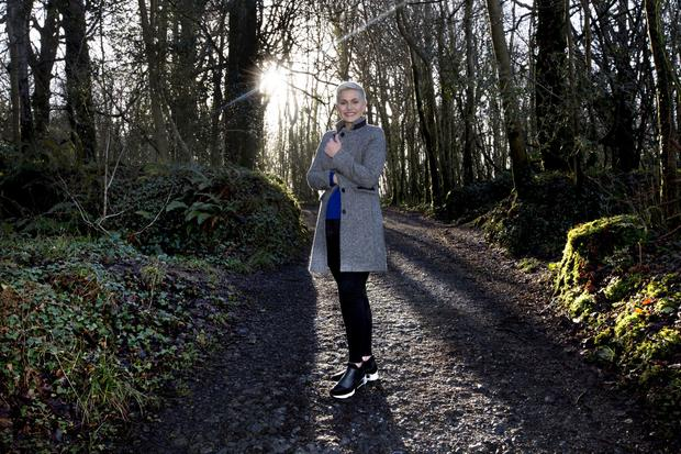 Maria Walsh, who will stand for Fine Gael in the EU elections, is pictured on the Knockma Woodland walk close to her home in Shrule, Co Mayo. Photo: Brian Farrell