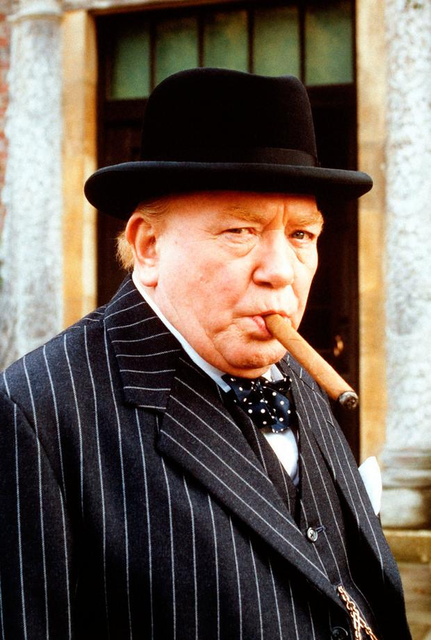 Albert Finney playing Churchill in 'The Gathering Storm'