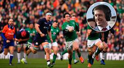Ronan O'Gara (inset) is excited by what Joey Carbery can offer