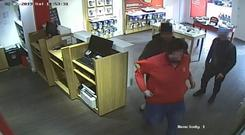 CCTV images of the incident in the Bunclody store (Photo: Independent.ie)