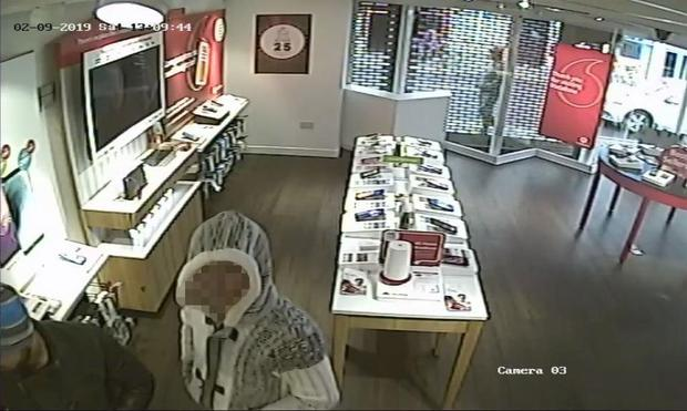 CCTV images of the incident in the Athy store (Photo: Independent.ie)