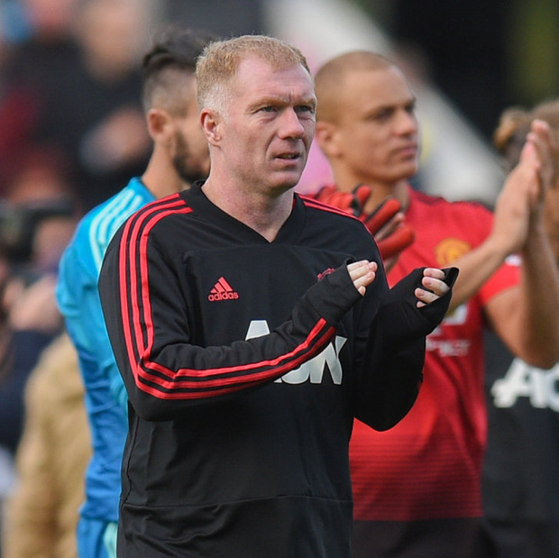 Scholes talked only last month about his desperation to get back into football, almost six years since his retirement. Photo by David Fitzgerald/Sportsfile