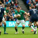 Quinn Roux of Ireland in action against Scotland. Photo: Getty