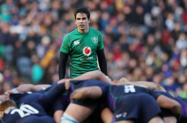 Ireland's Joey Carbery looks on. Photo: Action Images via Reuters