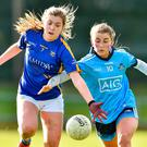 Tipperary's Cora Maher in action against Dublin's Aoife Kane during the Lidl Ladies football clash. Photo by Matt Browne/Sportsfile