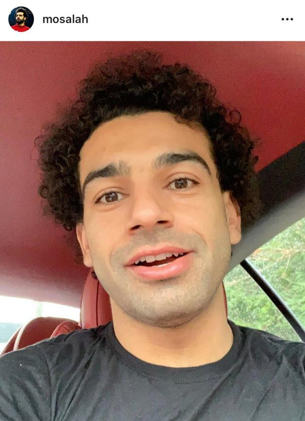 Salah looked more like a 26-year-old after posting a picture of his new beardless look on Instagram.