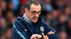 On borrowed time: Maurizio Sarri. Photo: Laurence Griffiths/Getty Images