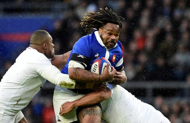 France's Mathieu Bastareaud in action. Photo: Reuters/Rebecca Naden