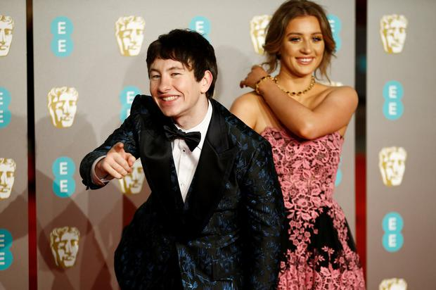 Barry Keoghan with his girlfirelnd Shona Guerin. Photo: REUTERS