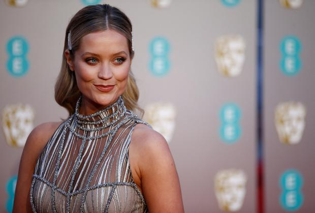Laura Whitmore provides red-carpet glamour. Photo: REUTERS