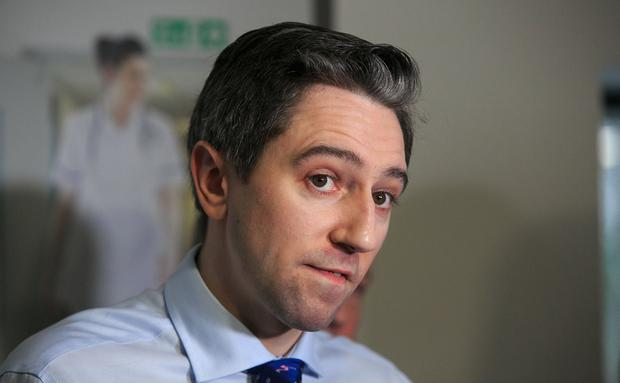 Target: Health Minister Simon Harris has said that protest has a place in society but that this crossed the line. Photo: Gareth Chaney, Collins
