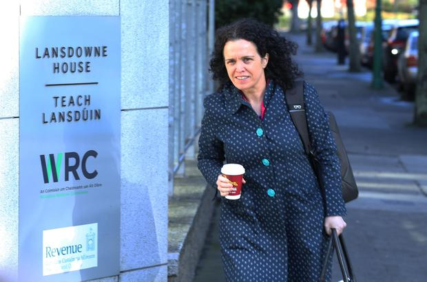 Phil Ní Sheaghdha pictured arriving to talks on the nurses' dispute at the Labour Court, Lansdowne House, Dublin. Photo: Collins