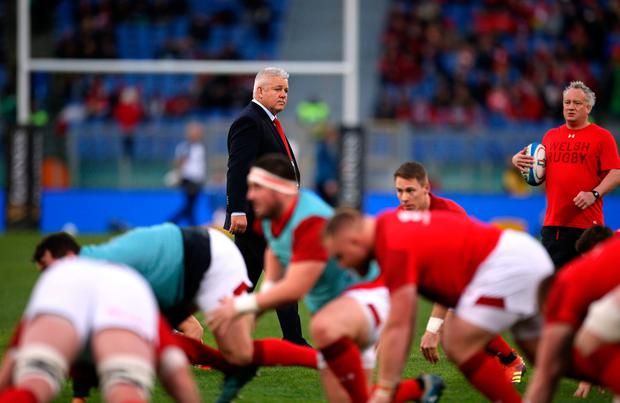 Gatland will clearly not take it easy on his players. Photo: Steven Paston/PA Wire