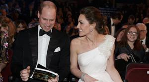The Duke and Duchess of Cambridge attend the British Academy Film Awards (Bafta) at the Royal Albert Hall, London, to meet Bafta representatives and watch the ceremony prior to the Duke presenting the Fellowship award