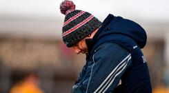 Cork manager Ronan McCarthy during the Allianz Football League Division 2 Round 3 match between Clare and Cork at Cusack Park in Ennis, Clare. Photo by Sam Barnes/Sportsfile