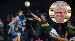 Joe Brolly (inset) was delighted with the standard of football served up by Dublin and Kerry