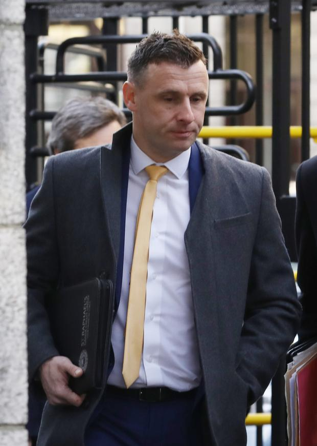 Detective Garda Brian Dunne, pictured leaving the Four Courts after he was awarded €38,500 damages folllowing a High Court Garda Compensation hearing.Pic: Collins Courts