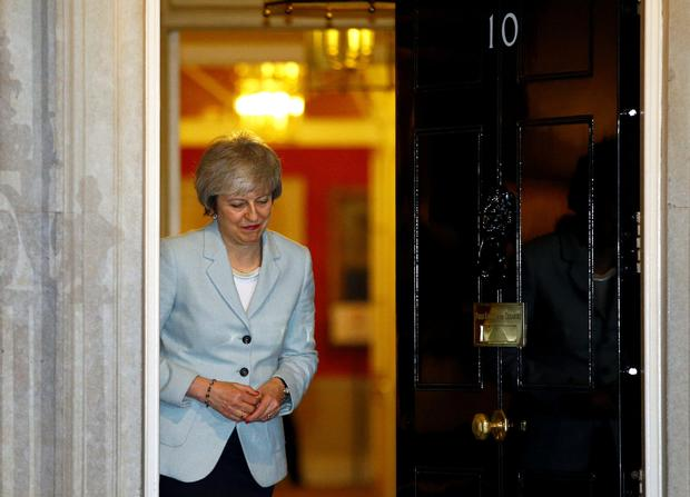 Internal struggle: UK Prime Minister Theresa May at Downing Street yesterday as she gears up for another big week for her Brexit deal. Photo: Reuters