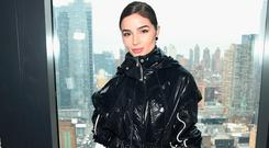 Olivia Culpo attends the Proenza Schouler front row during New York Fashion Week: The Shows on February 11, 2019 in New York City. (Photo by Jamie McCarthy/Getty Images for NYFW: The Shows)