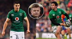 Brian O'Driscoll (inset) has been discussing Johnny Sexton and Joey Carbery
