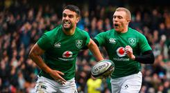 Conor Murray, left, and Keith Earls should face England