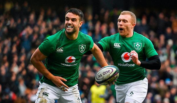 Rugby Conor Murray, left, and Keith Earls should face England