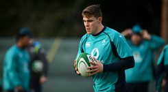 Garry Ringrose picked up a hamstring injury against England in the Six Nations. Photo by David Fitzgerald/Sportsfile