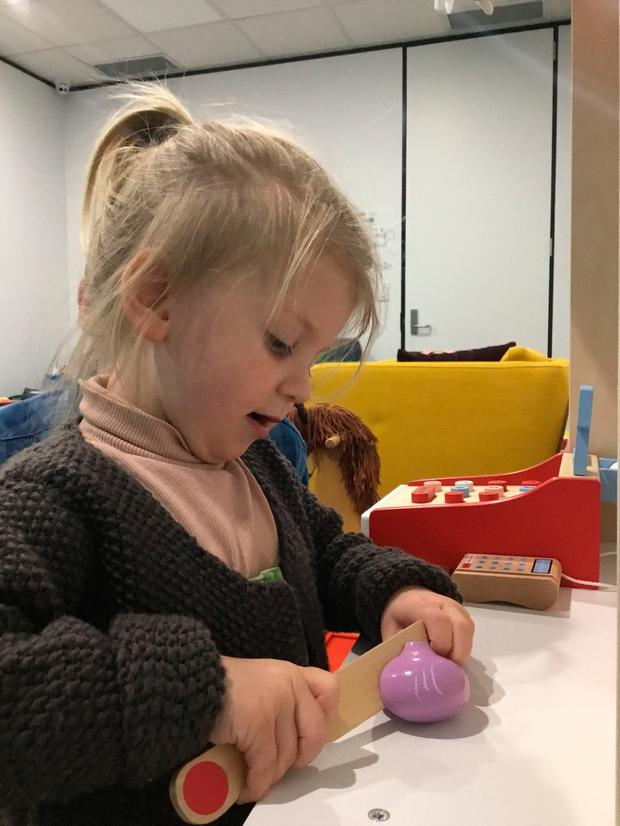Ruby McKay-Uhd, who is thought to be living in a camper van with her mother. A High Court judge has issued an urgent appeal for help finding the toddler Photo: Dawson Cornwell/PA Wire