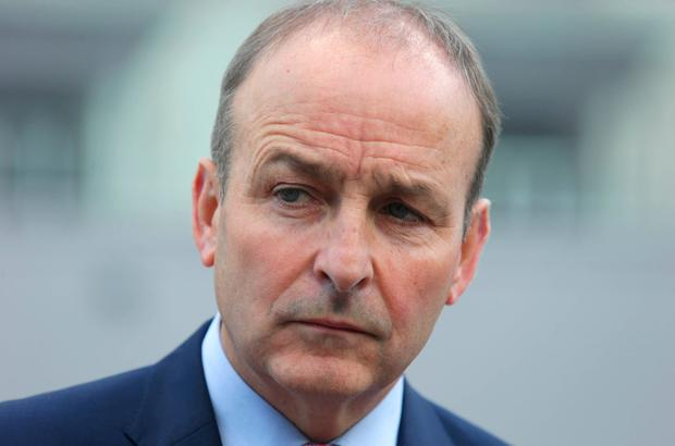 Micheál Martin: Fianna Fáil's leader says his party is leading the charge. Photo: Damien Eagers