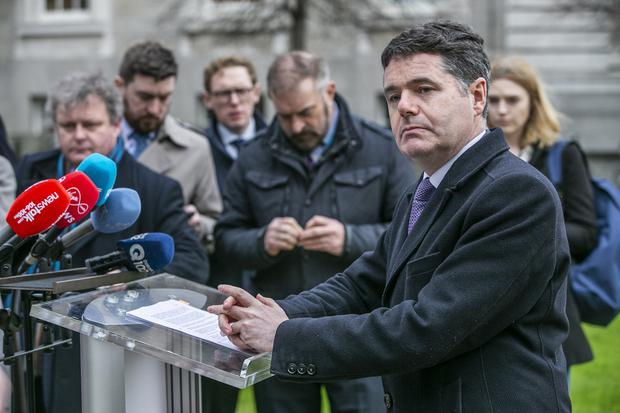 Counting the cost: Finance Minister Paschal Donohoe says productivity makes a big difference to how the pay rise is funded. Photo: Kyran O'Brien
